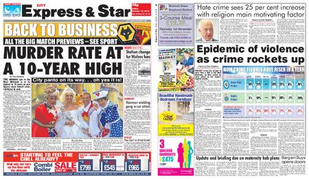 Express and Star City Edition – October 19, 2018
