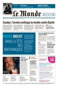 Le Monde du Samedi 13 Avril 2019