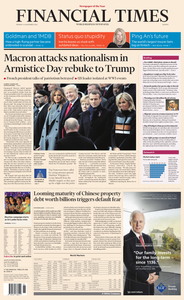Financial Times Europe – 12 November 2018