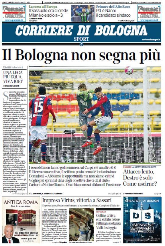 Il Corriere di Bologna Sport - 07.03.2016