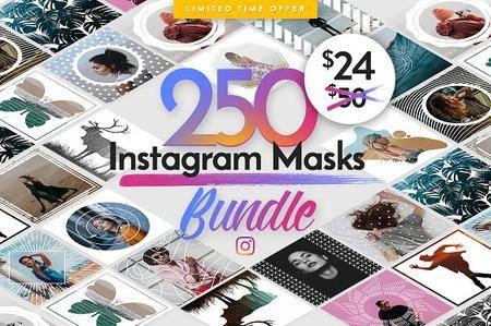 CreativeMarket - 250 InstaMasks Bundle