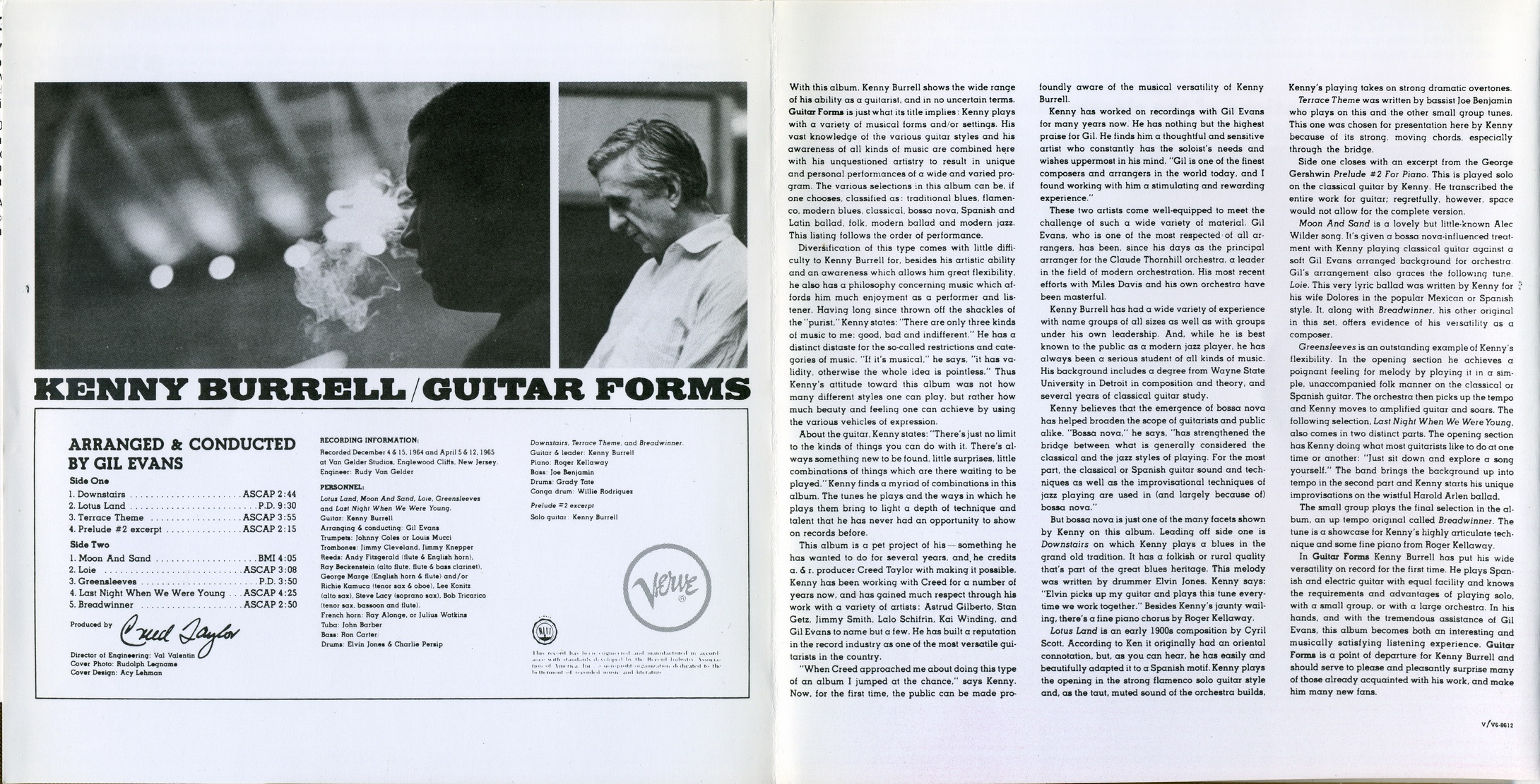 Kenny Burrell - Guitar Forms (1965) {Verve Master Edition 521 403-2 rel 1997}