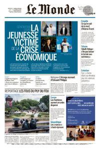 Le Monde du Dimanche 14 et Lundi 15 Juin 2020