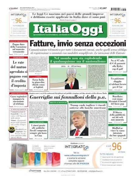 Italia Oggi - 8 Febbraio 2017