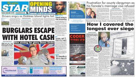 Shropshire Star Shrewsbury Edition – September 18, 2018