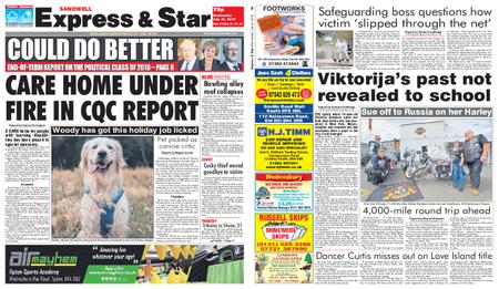 Express and Star Sandwell Edition – July 31, 2019