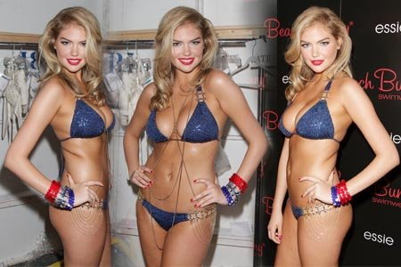 Kate Upton - Beach Bunny Show Backstage in Florida July 15, 2011