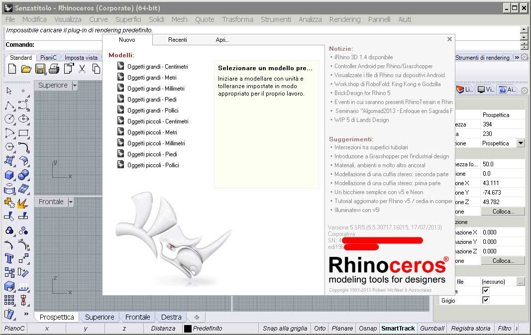 Rhinoceros 5 SR5 v5.5.30717.16015 Corporate Edition