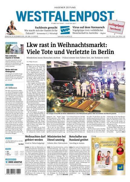 Westfalenpost - 20 Dezember 2016