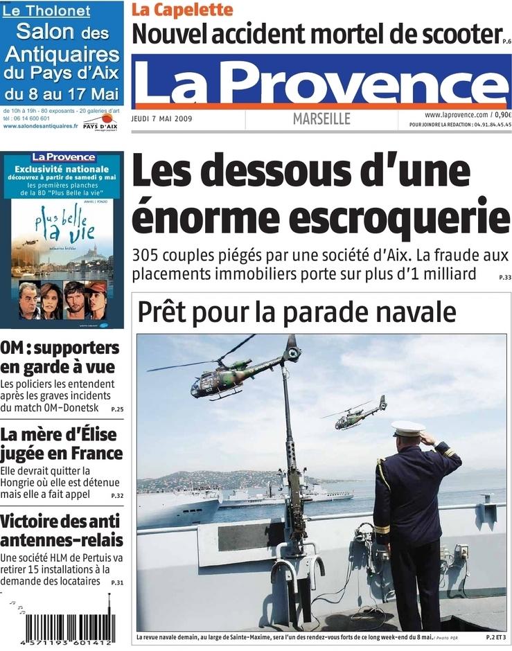 La Provence Edition Marseille 07 mai 09