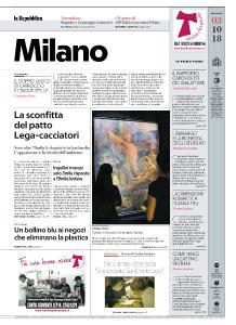 la Repubblica Milano - 3 Ottobre 2018