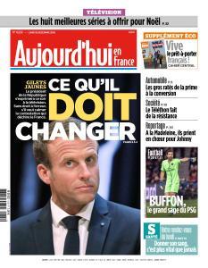 Aujourd'hui en France du Lundi 10 Décembre 2018