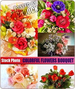 Stock Photo: Colorful flowers bouquet
