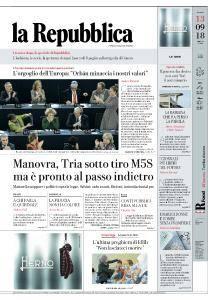 la Repubblica - 13 Settembre 2018
