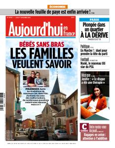 Aujourd'hui en France du Jeudi 1er Novembre 2018