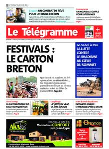 Le Télégramme Concarneau – 13 janvier 2020