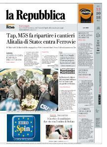 la Repubblica - 13 Ottobre 2018