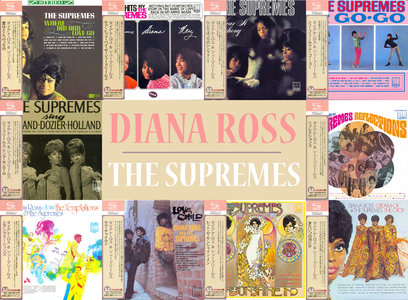 Diana Ross & The Supremes - Motown Albums 1964-1969 (10CD) Japanese Mini-LP, SHM-CD Remastered Reissue 2012 [Re-Up]