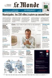 Le Monde du Vendredi 26 Juin 2020