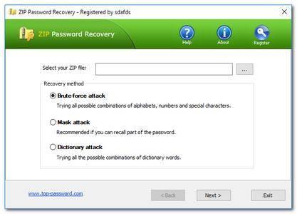 Top Password ZIP Password Recovery 2.30