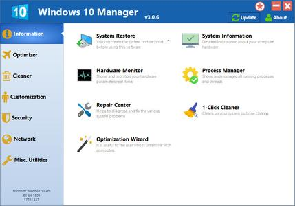 Yamicsoft Windows 10 Manager 3.0.9 Multilingual + Portable