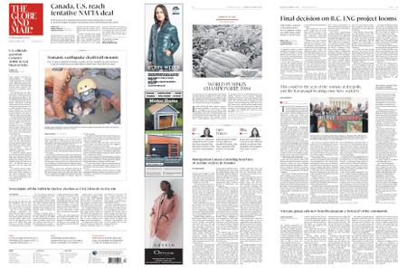The Globe and Mail – October 01, 2018