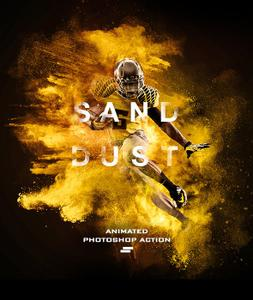 GraphicRiver - Gif Animated Sand Dust / Powder Explosion Photoshop Action 19542897