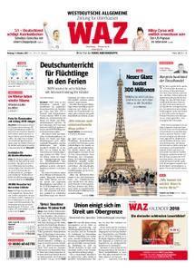 WAZ Westdeutsche Allgemeine Zeitung Oberhausen-Sterkrade - 09. Oktober 2017
