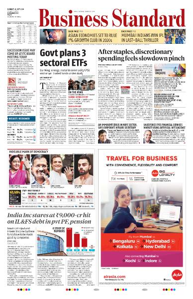 Business Standard - May 13, 2019
