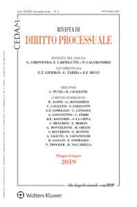 Rivista di Diritto Processuale - Maggio-Giugno