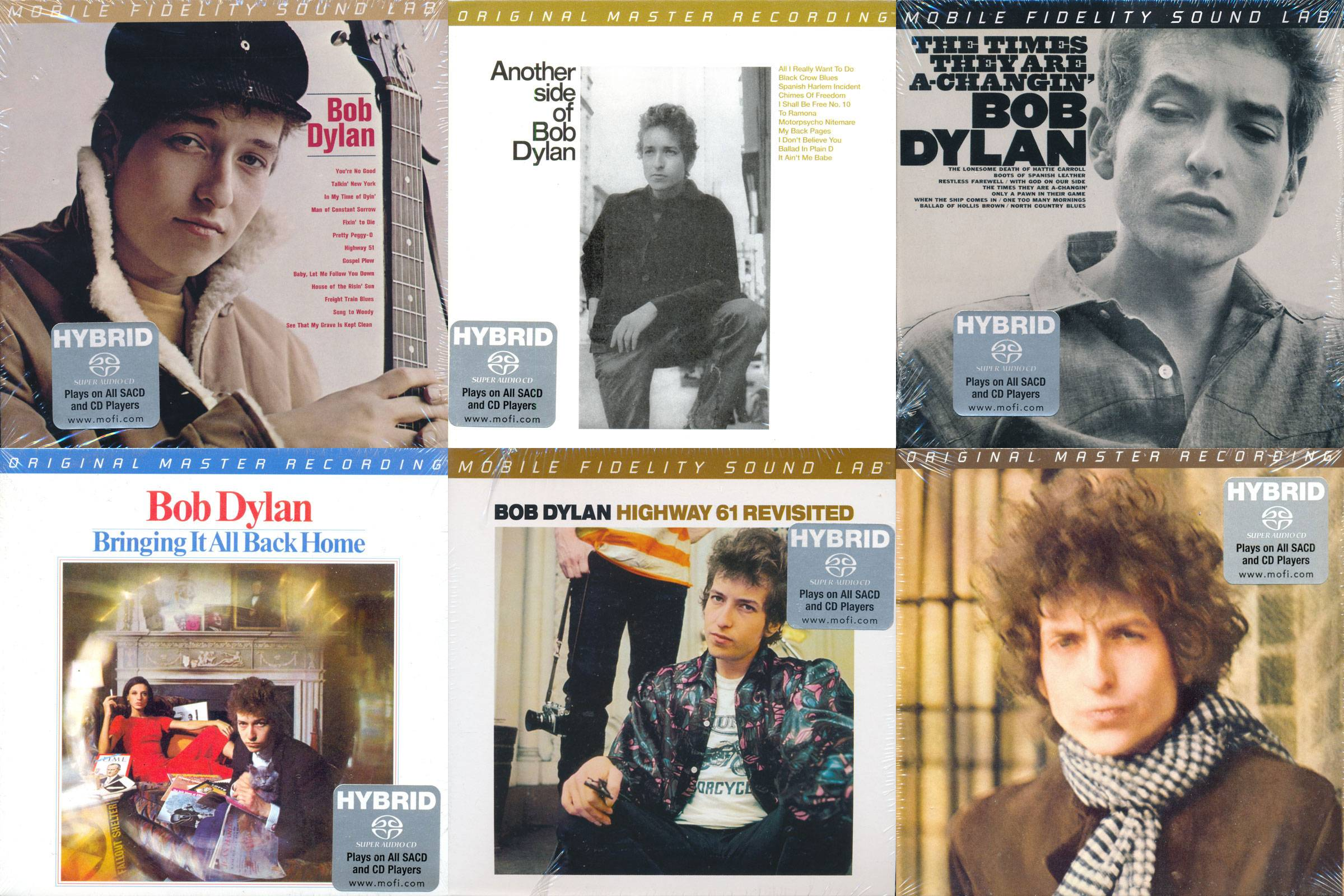 Bob Dylan – Albums Collection (1962-1966) [6CD, Mobile Fidelity Sound Lab]