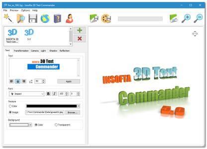 Insofta 3D Text Commander 5.0.0 Multilingual Portable