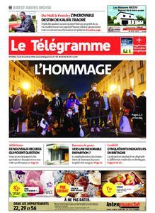 Le Télégramme Brest Abers Iroise – 22 octobre 2020