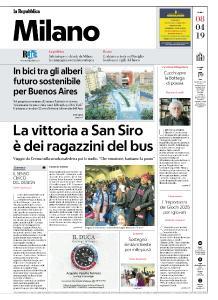 la Repubblica Milano - 8 Aprile 2019