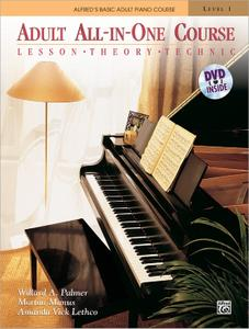 Alfred's Adult All-in-One Course: Lesson, Theory, Technic, Level 1 [Piano Book & DVD]