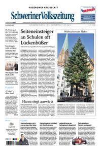 Schweriner Volkszeitung Hagenower Kreisblatt - 18. November 2017