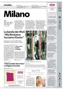 la Repubblica Milano - 28 Febbraio 2019