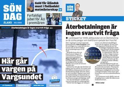 Ålandstidningen – 25 mars 2018