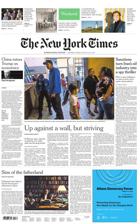 International New York Times - 10 August 2019