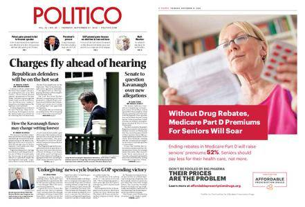 Politico – September 27, 2018
