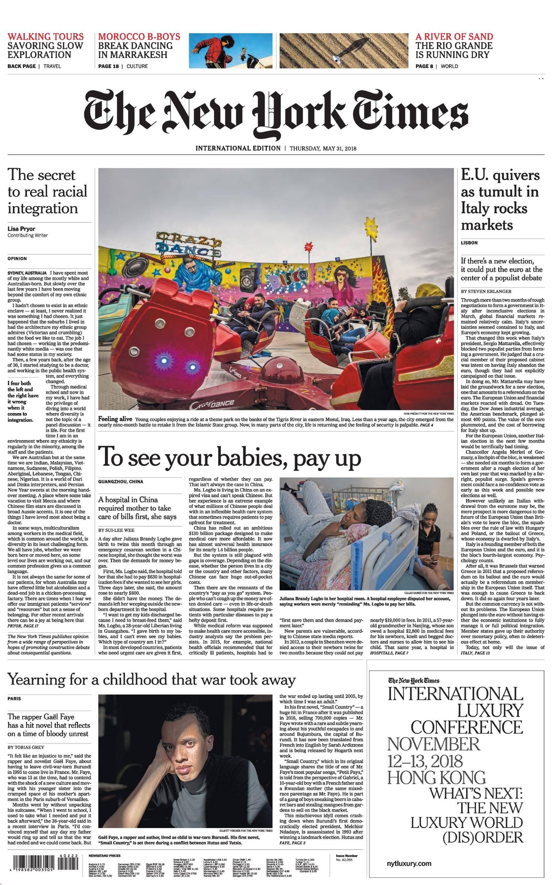 International New York Times - 31 May 2018