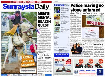 Sunraysia Daily – October 15, 2019