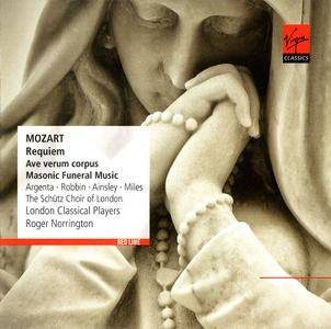 Roger Norrington, London Classical Players, Schutz Choir - Mozart: Requiem, Ave verum corpus, Masonic Funeral Music (2013)