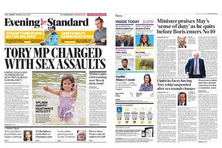 London Evening Standard – July 22, 2019