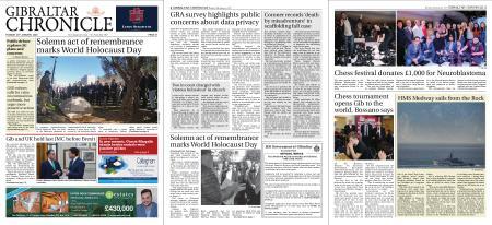 Gibraltar Chronicle – 28 January 2020