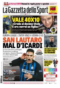 La Gazzetta dello Sport Roma – 15 febbraio 2019