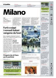 la Repubblica Milano - 30 Giugno 2018