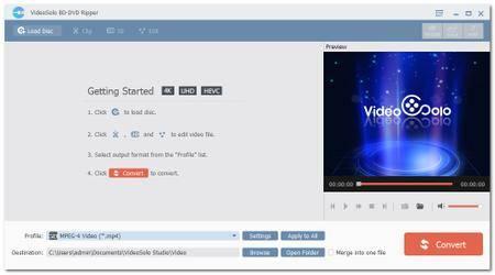 VideoSolo BD-DVD Ripper 1.0.10 Multilingual