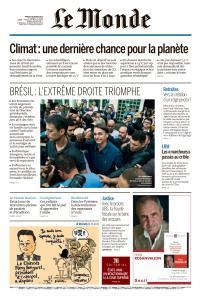 Le Monde du Mardi 9 Octobre 2018