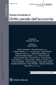Rivista Trimestrale di Diritto Penale dell'Economia - Gennaio-Febbraio 2019